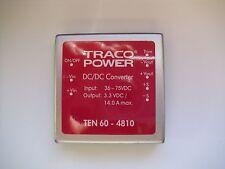 DC/DC CONVERTER  TRACO POWER  TEN 60-4810. Vinp 36 – 75 VDC  Vout 3.3 VDC. 14 A