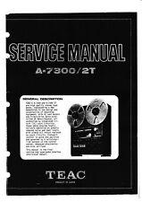 Service Manual-Anleitung für Teac A-7300, 2T