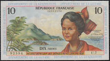 French Antilles Guadeloupe Guyane Martinique 10 francs 1964 XF+