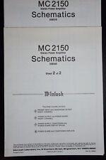 Genuine Mcintosh Laboratory MC 2150 Power Amplifier Service Manual Schematic