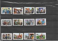 FRANCE 2020.TOUS ENGAGES.SERIE COMPLETE DE 12 TIMBRES AA OBLITERES