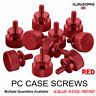 PC Modding Case Thumb Screws Red Anodized Aluminium M3 common size
