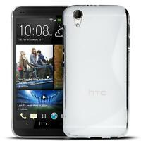 Handy Hülle HTC Desire 626 G Silikon Case Cover Schutz Hülle Tasche Transparent