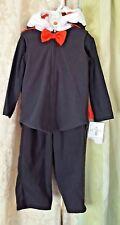 Carters 3 pc Black Fleece Count Dracula Vampire Halloween Costume Sz 12 months