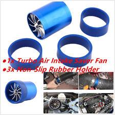 Car Air Intake Turbonator Double Fan Engine Gas Fuel Saver Turbine Super Charger