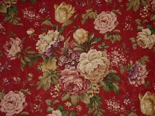 Mill Creek Floral GARNET Green Gold Purple Home Decor Drapery Sewing Fabric BTY