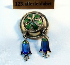 Pour 1900 David Andersen emaille broche 925 il argent old enamel brooch/BA 055