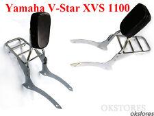 Backrest Sissy Bar Luggage Rack For 00-11 Yamaha V-Star 1100 Classic/Custom SJ15
