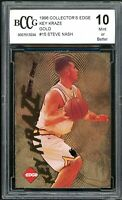 1996 Collector's Edge Key Kraze Gold #15 Steve Nash Rookie Card BGS BCCG 10 Mint