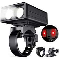POVAST Bike Light Combo Set, Front And Rear Either Or Both On, Waterproof Helmet