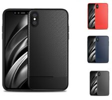 iPhone X XS Max XR Carbon Fiber Soft Tough Hybrid Shockprof Case Cover for Apple