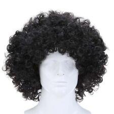 Curly Afro Wigs Party Clown Funky Disco Men Women Fancy Dress Black 8 Inch