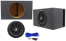 """KICKER 43C154 Comp 15"""" 500 Watt Car Audio Subwoofer+Vented Sub Box Enclosure"""