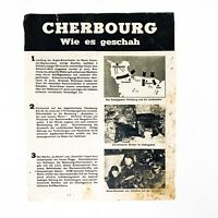 WWII D-Day U.S. Air Corp. Normandy Propaganda Leaflet 'ZG.25' CHERBOURG Relic