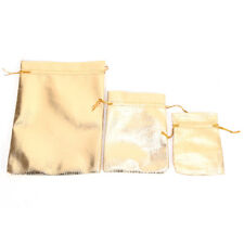 10x Wedding Drawstring Pattern Organza Party Gift Bags Candy Jewelry Pouches at Gold 9*12cm
