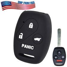 Silicone Key Cover Case Fob For Honda Accord Civic CR-V CR-Z Pilot 4 Button