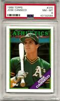 1988 Topps Card #370 Jose Canseco Oakland A's PSA NM-MT 8  HOF  LOW POP