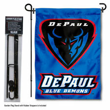 DePaul Blue Demons Garden Flag and Yard Stand Included
