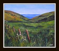 Original Impressionist Painting : Melanie Reynoso Parker : The Wire Fence