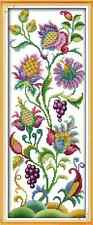 Kit broderie point de croix,Cross Stitch Kit , Les fruits 14CT 21*50 cm