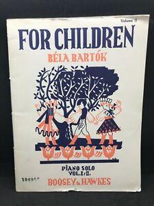 BARTOK For Children Bela Bartok Piano Solos Book 1-2 #10696F