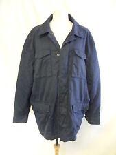 Cappotto da uomo-Maine, XL, Blu scuro, cotone, leggermente imbottita, USATO, bordi sfumati - 0218