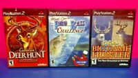 3 Game Lot PS2 PlayStation 2 Cabela's Deer Hunt, Big Game Hunter, Pro Bass Fish