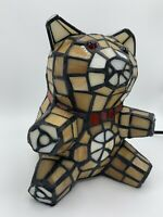 Tiffany Style Stained Glass Style Teddy Bear Table Lamp Night Light *RARE
