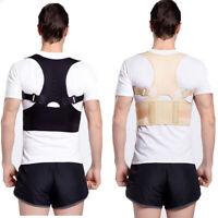 Back Posture Corrector Men Women Support Lumbar Shoulder Belt Brace