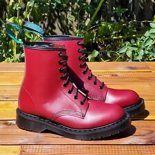 💥Solovair England MIE Dr. Martens Cherry Red Haircell Leather Boots UK4 US6💥