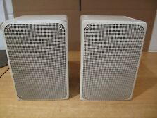 ADS Model L300C Speakers White Metal Case & Grills