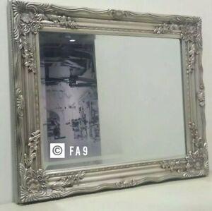 Large Antique Ornate Dressing Table Vanity Wall Mirror Elegant Vintage Style