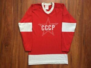 VINTAGE USSR HOCKEY SHIRT 80-90s JERSEY SIZE L