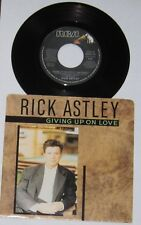 """Rick Astley - Canadian 45 with picture sleeve - """"Giving Up On Love"""" - NM/VG+"""