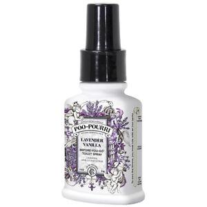 Poo Pourri Lavender Vanilla Toilet Spray Eliminates Bathroom Odours - 2oz/59ml