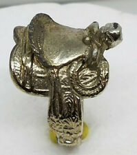 SADDLE RING MENS OLD VINTAGE SIZE 9 FOR COWBOY HORSE RIDER RODEO BULL RANCH HAND