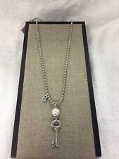 UNO De 50 Llavestruz Silver / Pearl Necklace COL1123BPLMTL0U - UNOde50