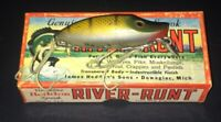 Vintage Heddon River Runt Spook Sinker Original Matching box 9110 M