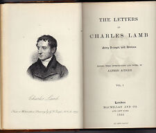 WORKS OF CHARLES LAMB IN 6 VOLUMES-1884/1887/1888