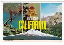 Postcard: Multiview - Hello from California - The Golden State