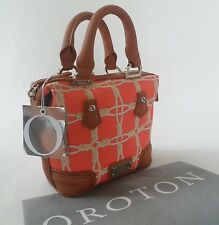 OROTON 1938 Barrel Mini Bag Cross Body Leather Tigerlilly Orange Limited Edition