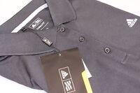 Ladies Adidas Climalite Solid Tech Golf Polo Shirt Large 14 Black Self Stripe