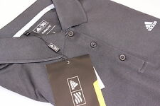 Ladies Adidas Climalite Solid Tech Golf Polo Shirt X Large 16 Black Self Stripe