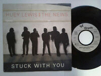"""Huey Lewis And The News / Stuck With You 7"""" Vinyl Single 1986 mit Schutzhülle"""