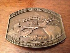 Men's Brass Belt Buckle NRA Whittington Center 1973-88 15 Years Of Shooting