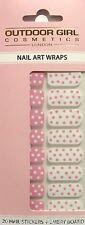 Outdoor Girl 20 Esmalte de Uñas de Arte Envolturas/en Punto Rosa Mix Plus Esmeril Board