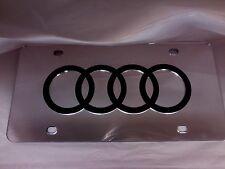 Audi License Plate Silver/Black Brand NEW!!