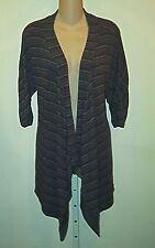 Debbie Morgan NWT Striped Dolman Sleeve  Open  Cardigan Top M