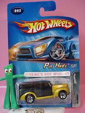 2005 Hot Wheels '40s WOODY 1940 #092/92☆Gold w/black; 5sp variant☆Pin Hedz 2/5