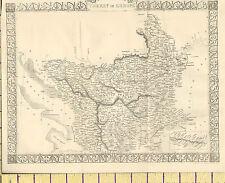 c1865 MAP ~ TURKEY IN EUROPE ~ BOSNIA ALBANIA RUMILA BULGARIA INSET CANDIA